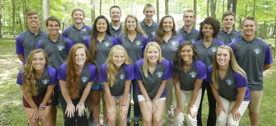 IHSAA student advisory committe,  listed below, poses for a photo.