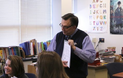 French teacher Mr. Gary Spurgin helps coordinate the annual student exchange.