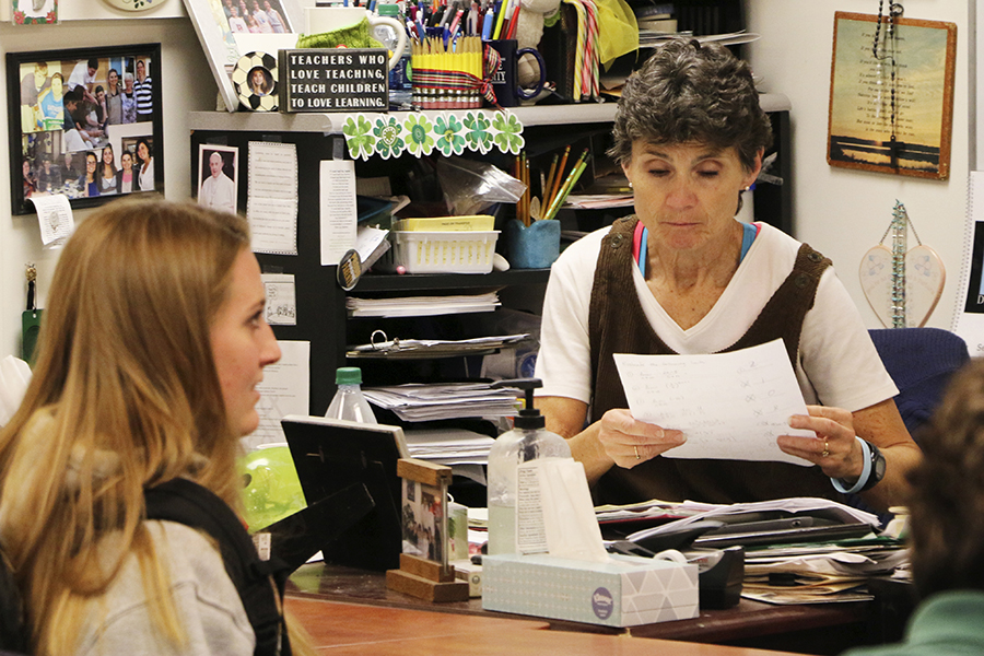 Math teacher Mrs. Lisa Ford reminds students that the deadline to register for this year's Math League is Sept. 9.