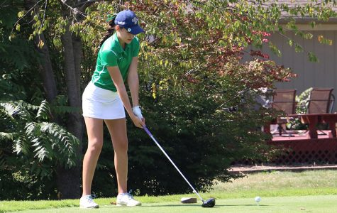 Senior Sophia Alexander participates in a women's golf match during the regular season.