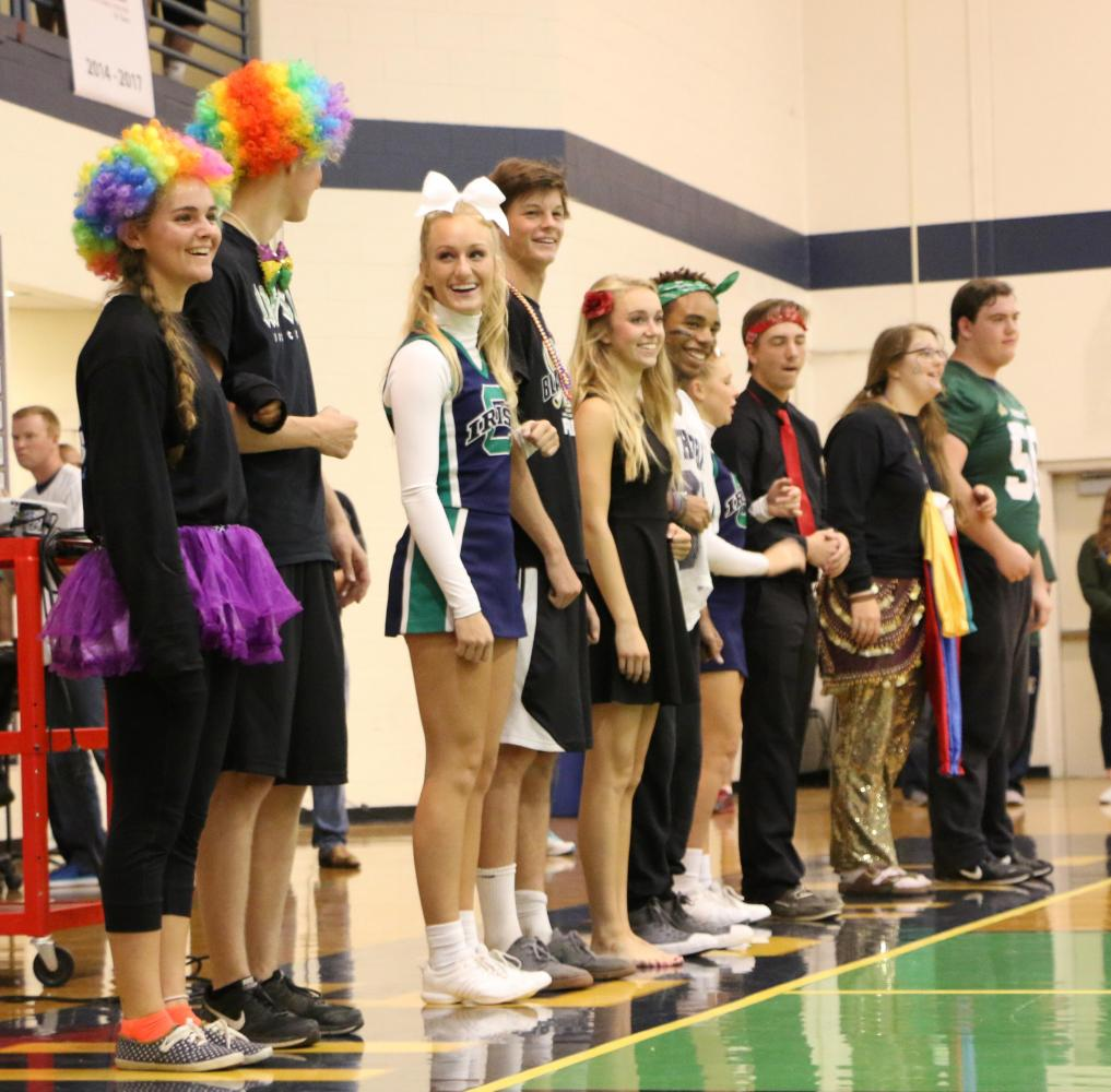 Last year's Homecoming queen and king candidates were recognized at the pep rally in the Welch Activity Center. This year's candidates have been named.