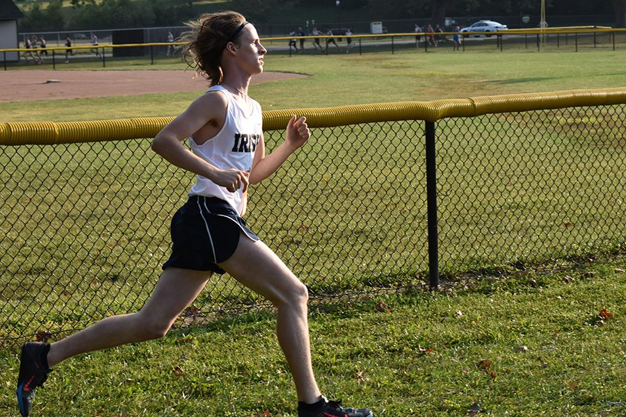 Junior+Cole+Hocker+runs+earlier+in+the+season+at+the+Plainfield+Relays.+Hocker+and+his+fellow+runners+will+compete+in+the+men%27s+cross-country+State+Finals+on+Oct.+28+in+Terre+Haute.+