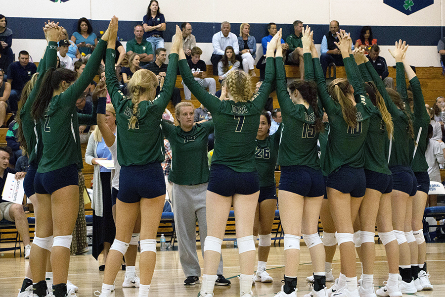 The women's volleyball team opens Sectional play Oct. 12 at 6 p.m., playing Arsenal Tech at Lawrence North.