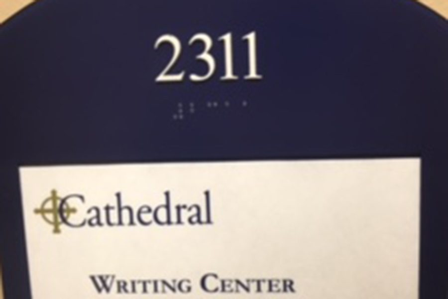 The writing center is staffed by senior English students and is located on the second floor of Loretto.