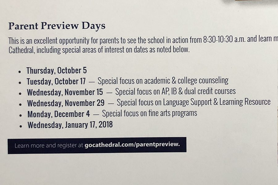 An+image+from+the+school+website+provides+information+about+parent+preview+days.+