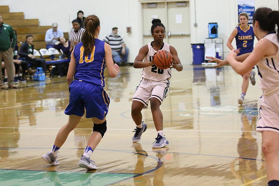 Senior Keya Patton and her teammates were set to take on Brebeuf Jesuit on Nov. 4, but both the junior varsity and varsity games have been postponed.