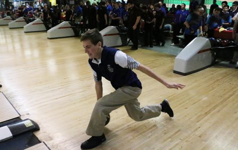Senior Nick Toby was one of the highest average men's bowlers that saw improvement this season.