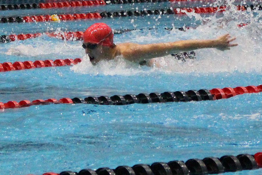 The+swimmers+return+to+the+IUPUI+Natatorium+for+the+Schools+With+No+Pools+meet+on+Jan.+23.