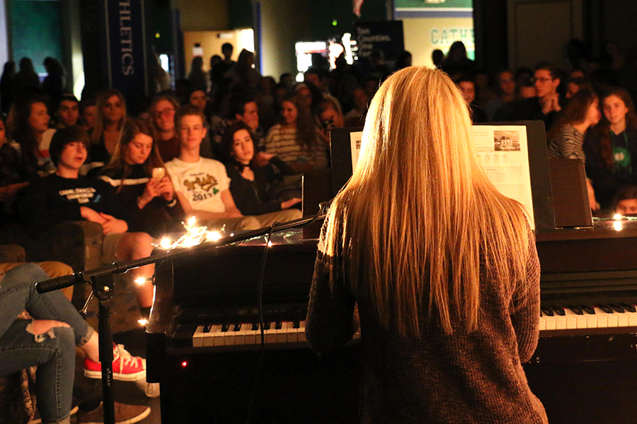 Students filled the Shiel Student Life Center for last year's Coffee House Jam.