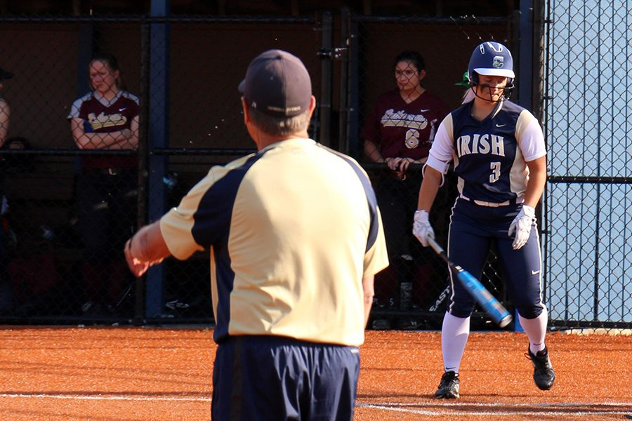 The varsity softball team opened its season with a win over Carmel.