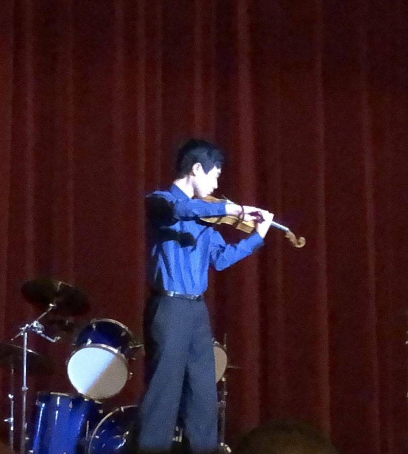 Freshman Jacob Lo is an accomplished violinist.