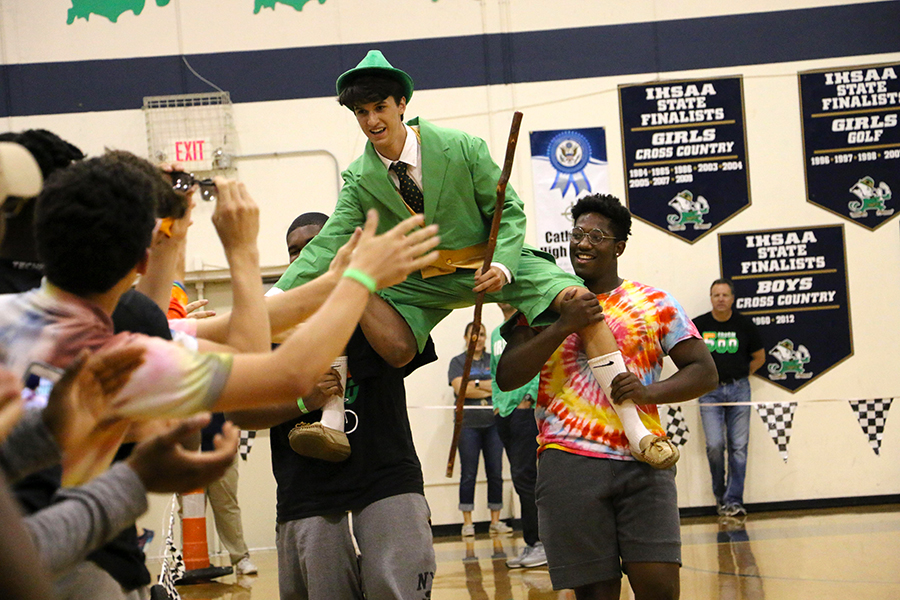 The Irish 500 on May 18 will result in the use of an altered schedule that day. Last year, senior Daniel Jamell was introduced as the leprechaun.