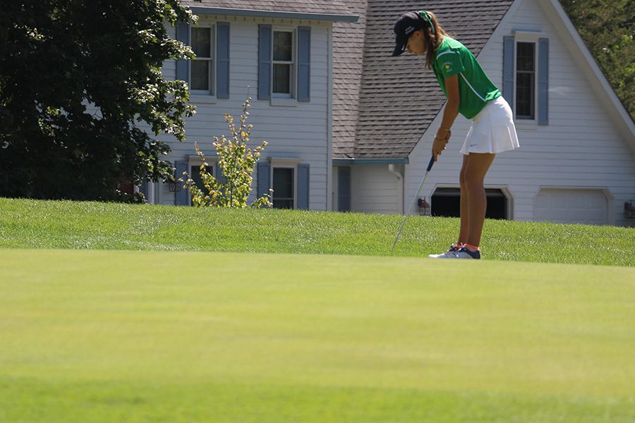 The+women%27s+golf+team%2C+shown+in+action+last+year%2C+competes+twice+during+the+week+of+Aug.+6.+