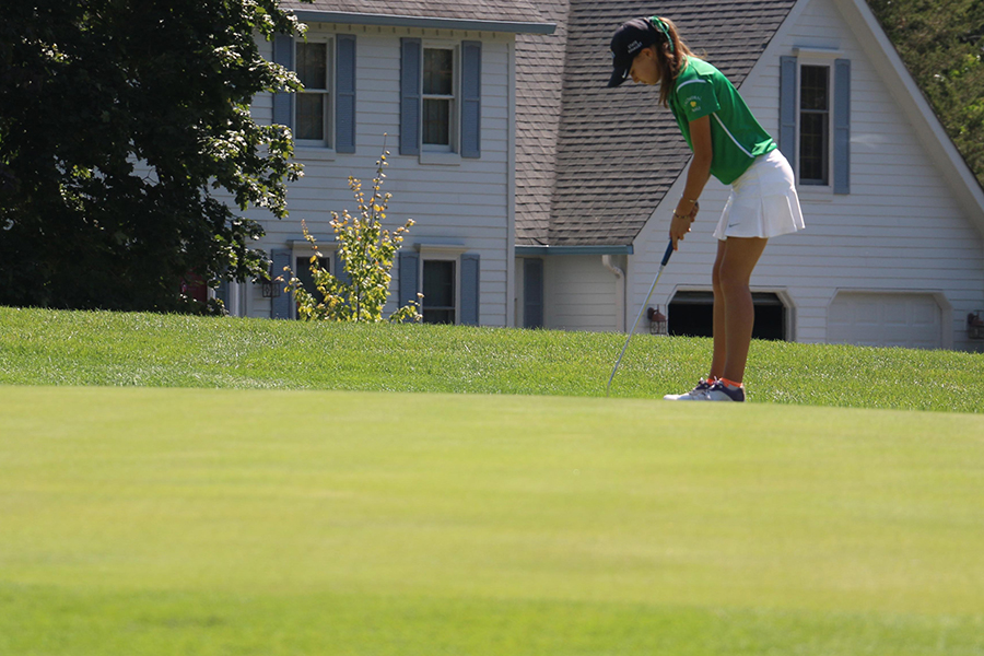 The women's golf team, shown in action last year, competes twice during the week of Aug. 6.