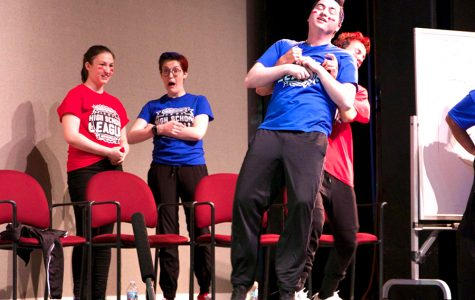 Last year's ComedySportz team participates in a competition.