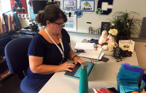 Spanish teacher Mrs. Kim Jamell said she uses various strategies to keep her online students focused.