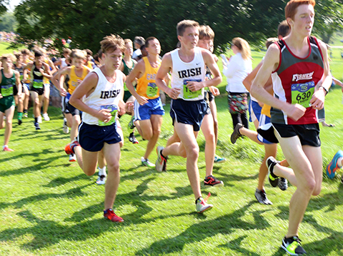The men's cross-country team will be among the fall sports squads recognized at a pep rally on Oct. 24.