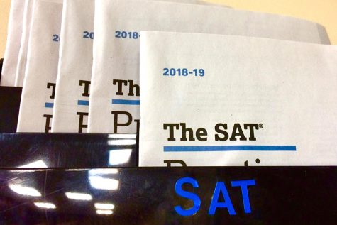 Documents in the counseling office provide information about the SAT.