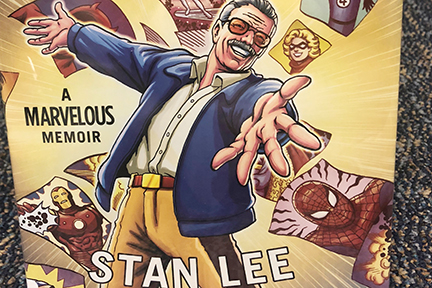 One of the items in the librarys collection is a comic book outlining the life and achievements of Stan Lee.