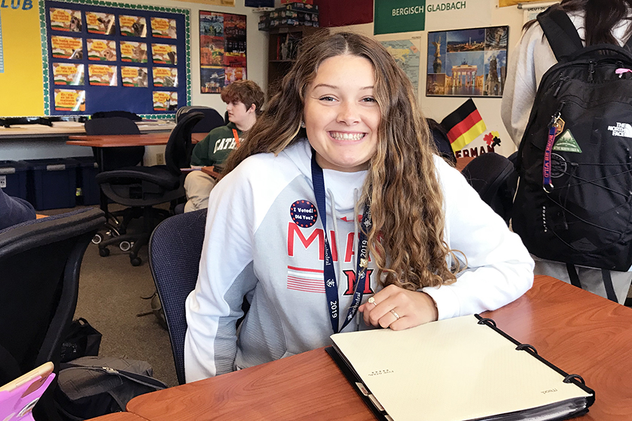 For the fourth time in four years, senior Angelica Letcher will volunteer as a tour guide at the school's annual open house.