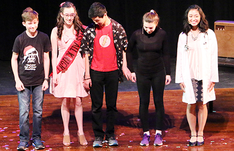 Several actors prepare to take a bow during last year's Rookie Showcase.