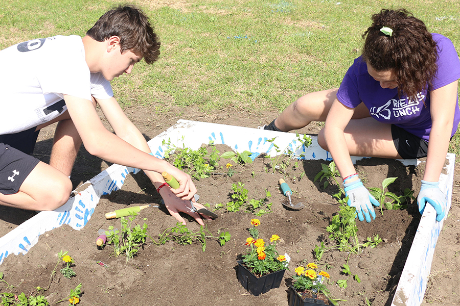 Juniors Will Browning and Cassie Piper participated in last spring's mission trip to South Carolina.