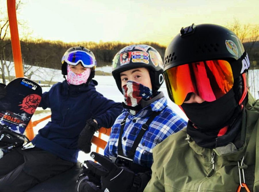 Corbin Johnson, Jack Wajda and Garrett Wright take part in a ski trip last winter. The ski trips offer an opportunity for beginner to expert skiiers as well as snow boarders.