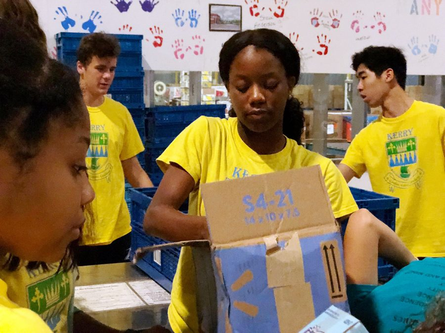 Students participated in the school's annual day of service last fall.