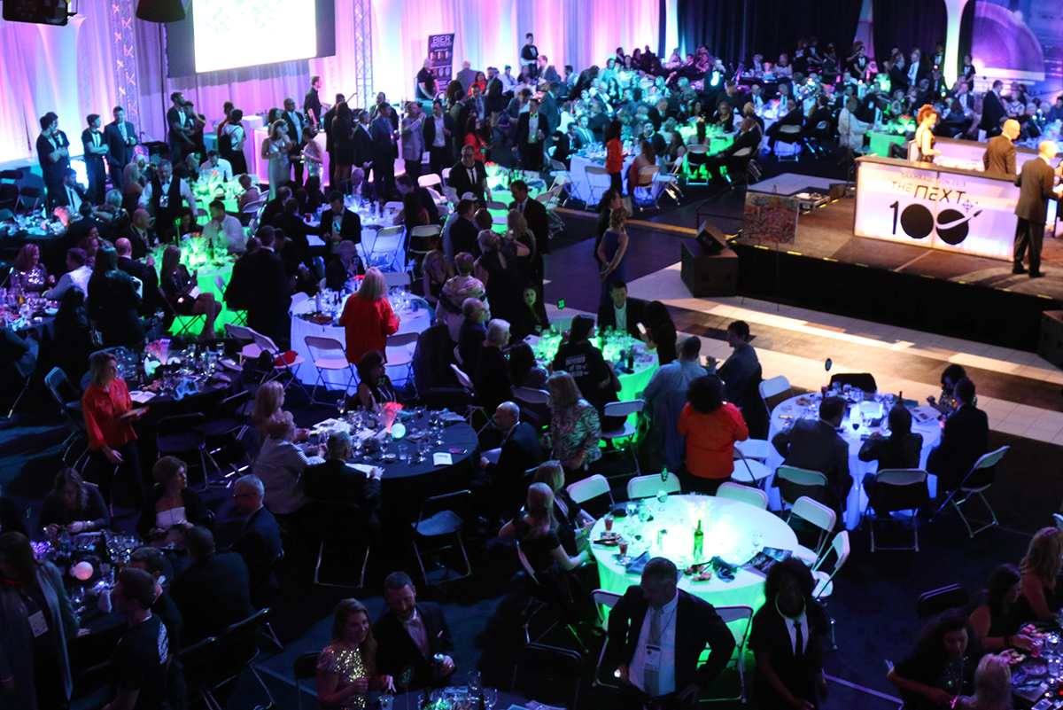 The Welch Activity Center was transformed for the annual Shamrauction.