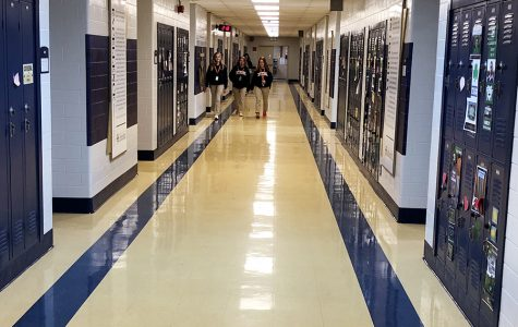 Classrooms in the theology  hallway were among those used for the PSAT on Oct. 14.