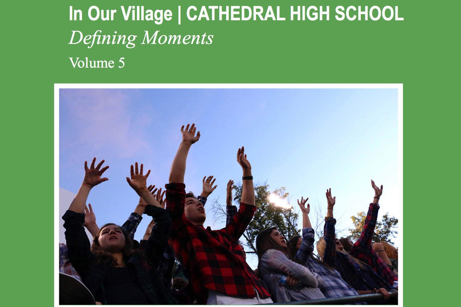 A photo by junior Caroline Steiger was chosen for cover of this year's edition of the In Our Village book.