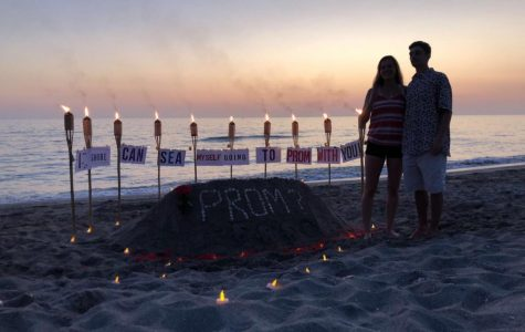 The promposal between juniors Cole Spau and Nico LoPresti took place on a beach.