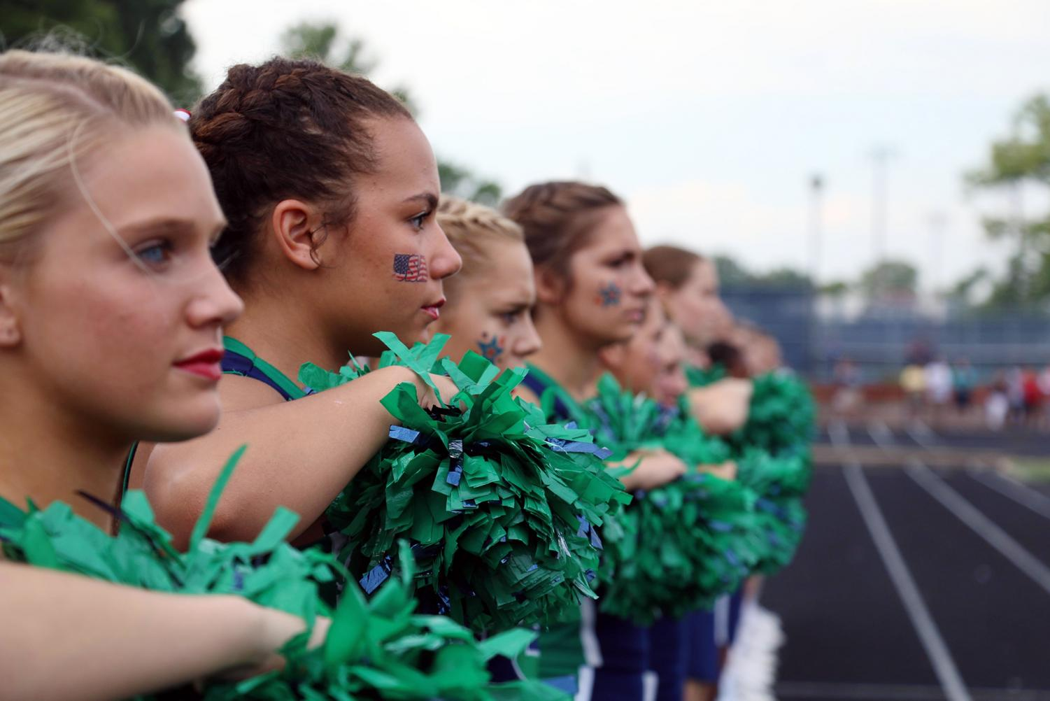 Cheerleading tryouts for the next school year will take place at noon on April 28 in the Mimms Gymnasium.