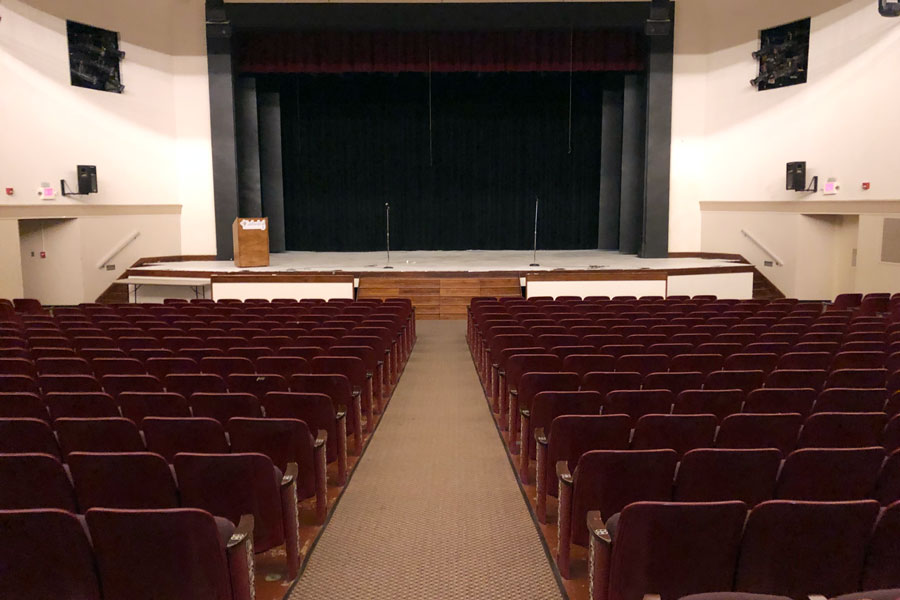 The auditorium will serve as the venue for the annual talent show.