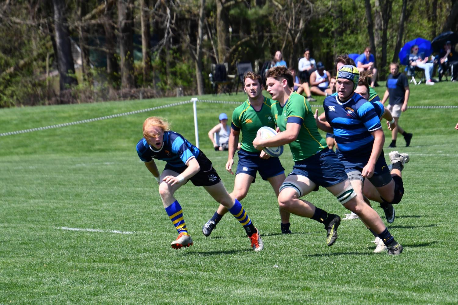 The Royal Irish rugby team, in action last season, plays in a national tournament in Salt Lake City May 16-18.