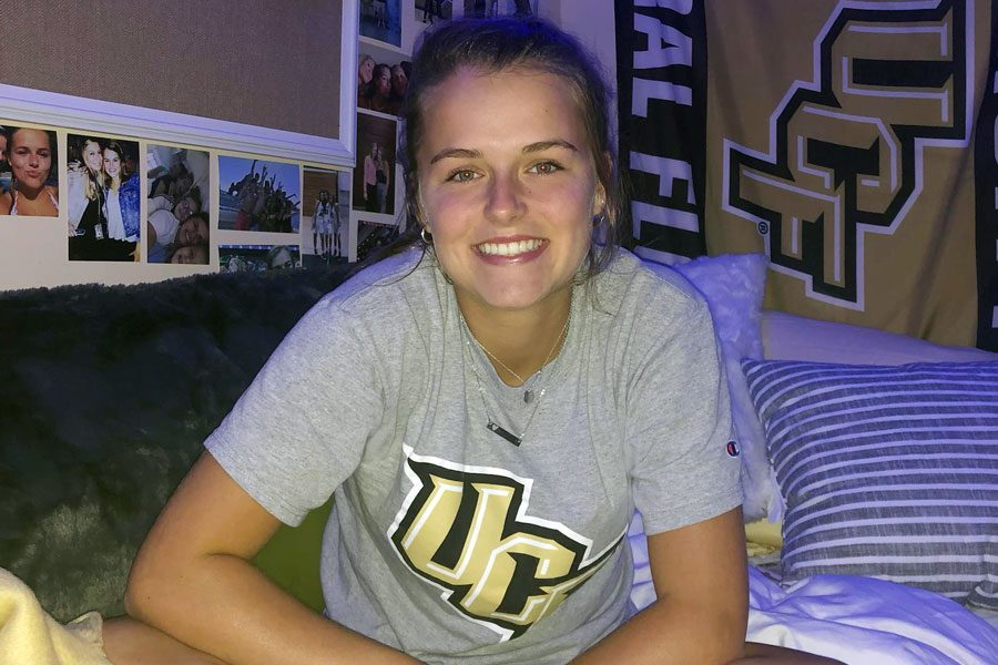 Katherine+Gallagher+%2719+in+her+dorm+room+at+the+University+of+Central+Florida+just+after+move-in+day.+