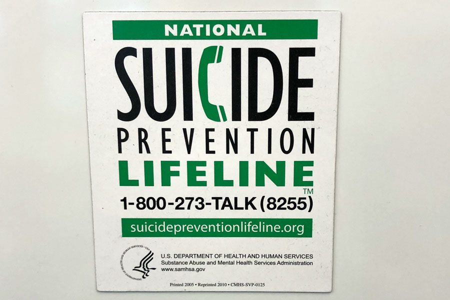 Suicide+prevention+magnets+are+posted+in+classrooms+throughout+the+campus.+