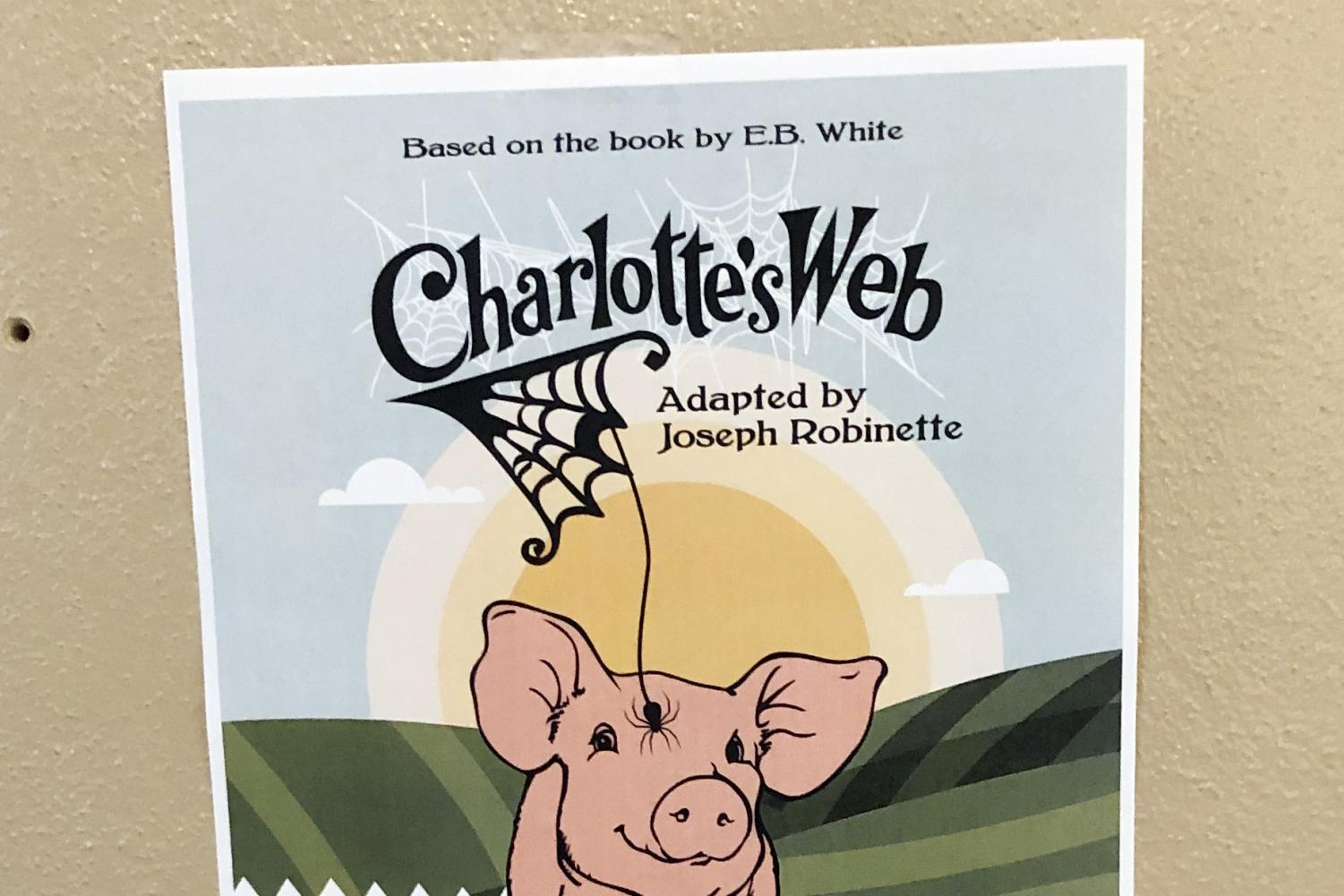 Posters displayed on campus advertise the children's play,