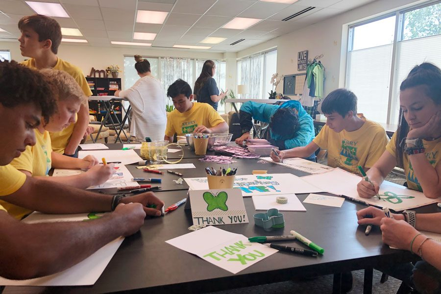 Students volunteer their time during the annual Day of Service on Sept. 13.