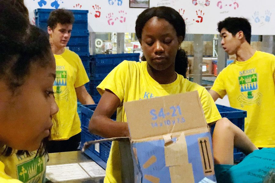 Students participate in last year's annual Day of Service.