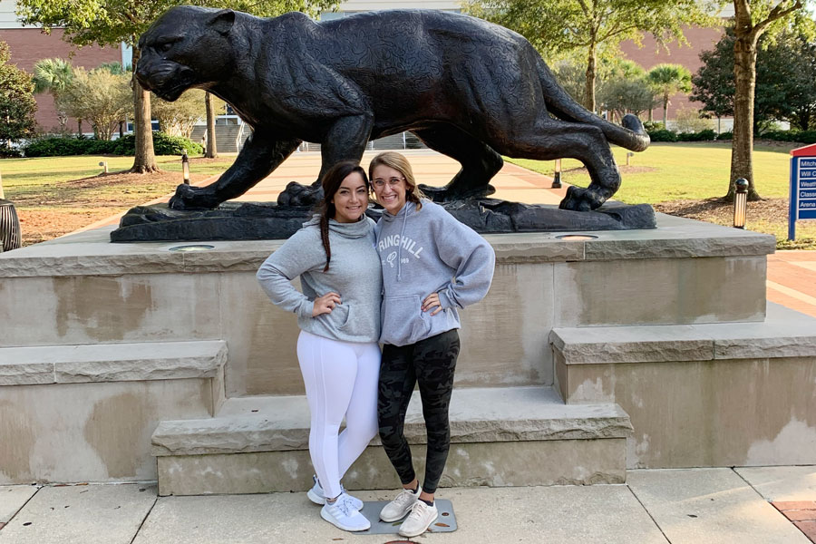 On Oct. 16, seniors Hannah Miller and Andi Manship visited the University of South Alabama.