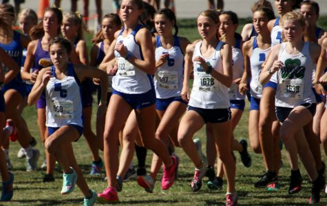 The women's cross-country team participates in a meet earlier this season. The Irish will run the Sectional meet on Oct. 12.