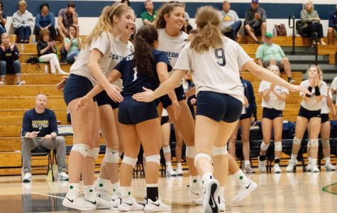 The women's volleyball team is set to play New Castle in the Regional at noon on Oct. 26.