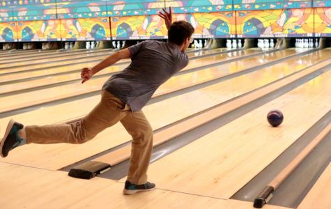 The bowling team competes at Woodland Bowl on Nov. 21.