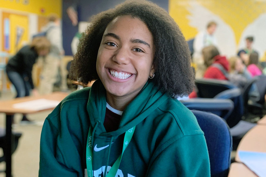 Senior Taryn Buford will serve as a volunteer tour guide at the Nov. 14 Open House.
