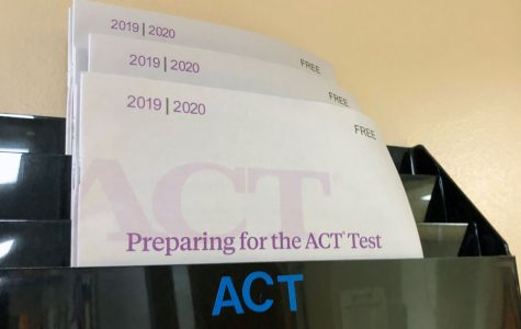 Material in the counseling office provides information about the ACT.