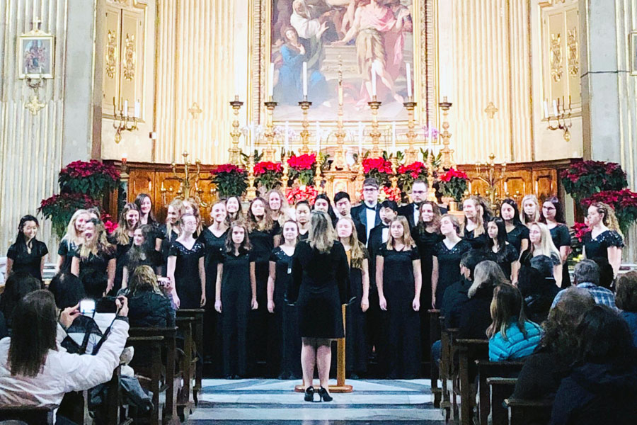 Last year the choirs performed in Rome.