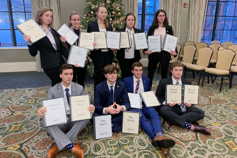The school's We the People team won the State championship during competition in early December and now heads for Nationals in April.