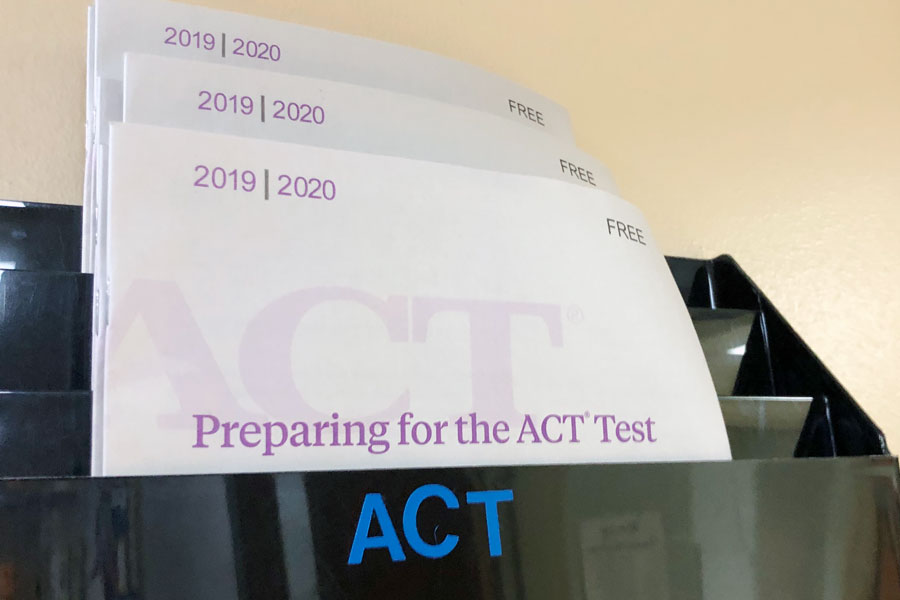 ACT information is available in the counseling center.