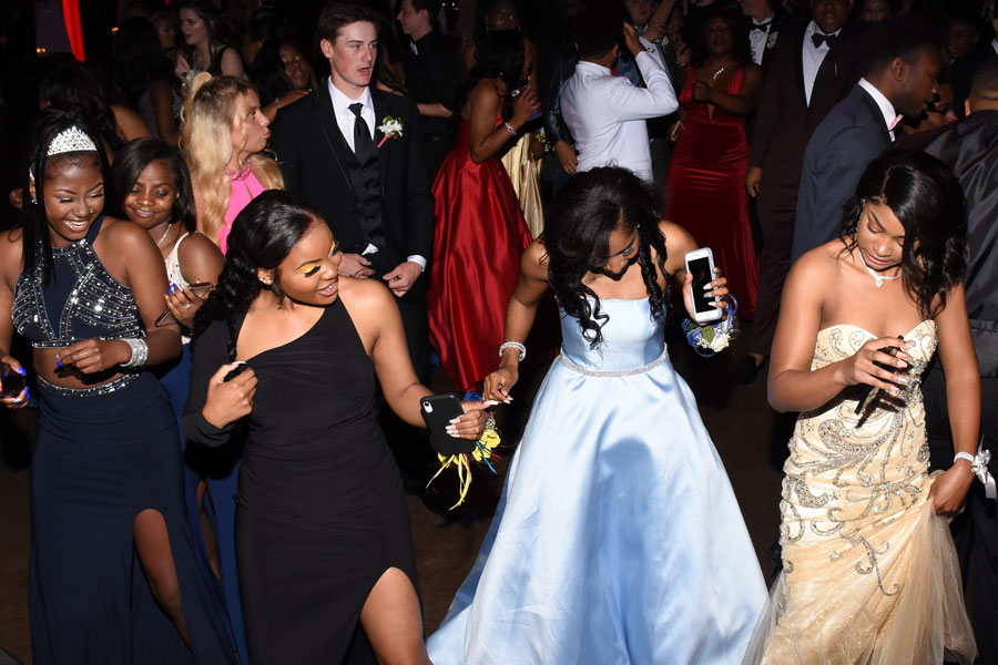 Students danced the night away at last year's prom.